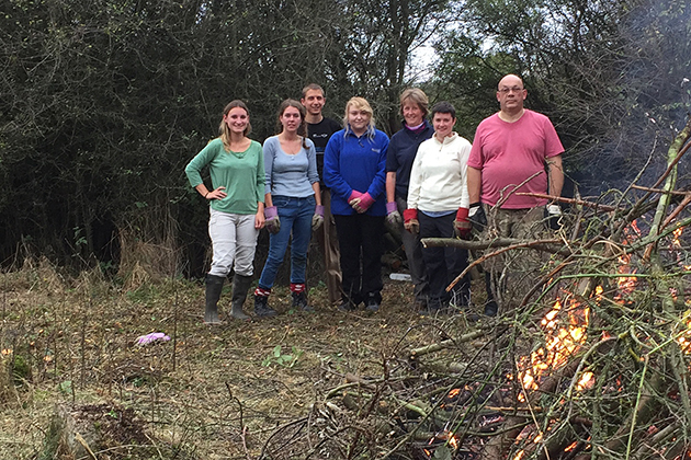 Grundon volunteers help to tackle the clear-up operation