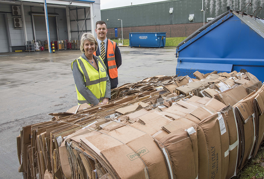 The installation of cardboard balers have dramatically reduced vehicle movements and are delivering bigger rebates for ILG, who previously had to pay for cardboard disposal