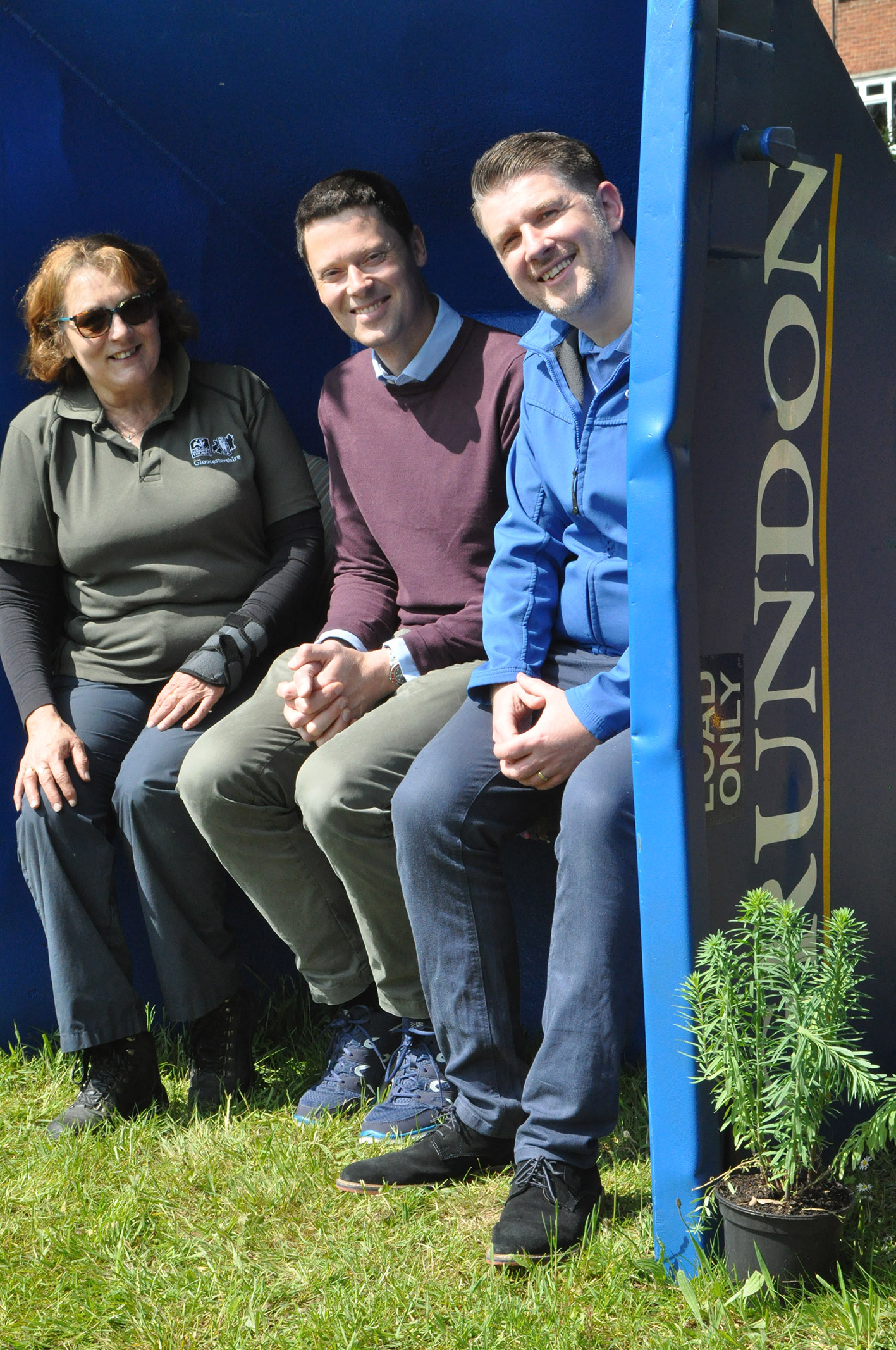 Jo Worthy-Jones, Alex Chalk MP and Anthony Foxlee-Brown, Head of Marketing & Communications at Grundon, attended the Open Day on Saturday 11 May 2019