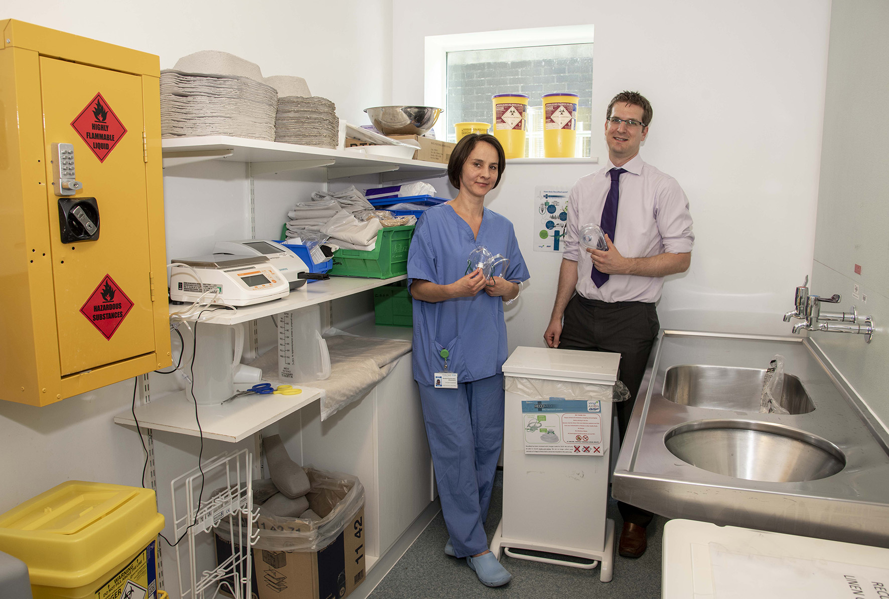 Around 500kgs of PVC has been collected at Wexham Park Hospital alone and, since August 2018, removing recyclable PVC from the incineration waste stream overall has saved the Trust around £200.