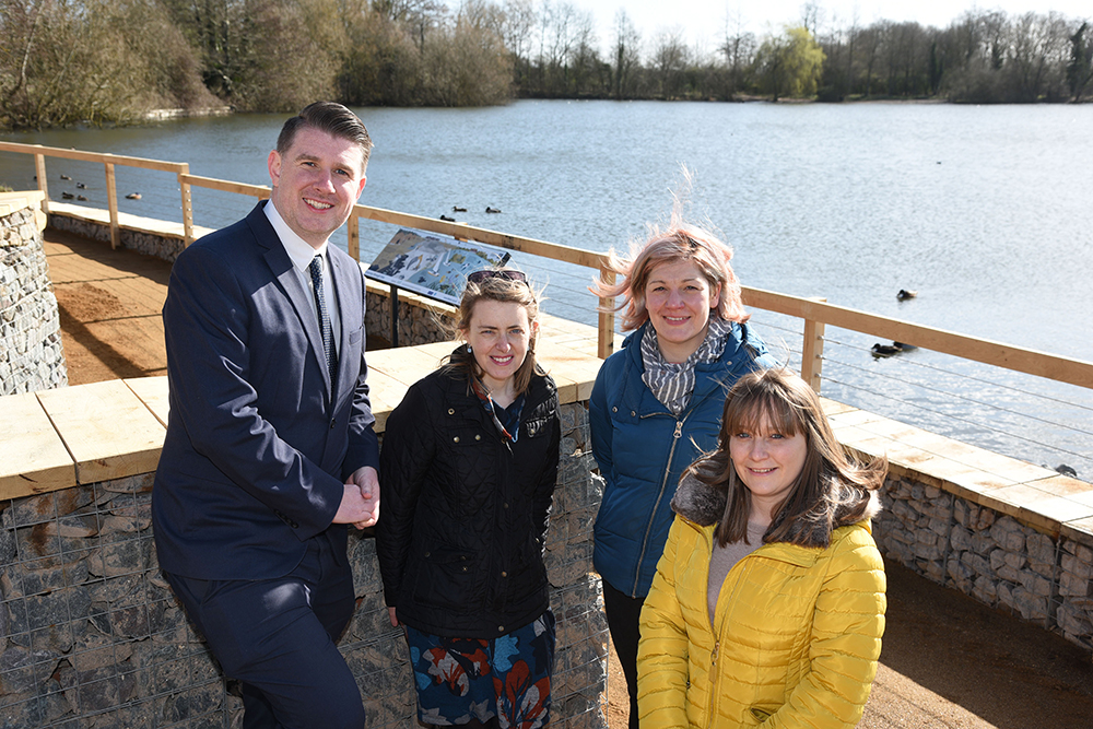 Grundon's Head of Marketing & Communications, Anthony Foxlee-Brown, joined BBOWT's Laura Pepper, Head of Development and Liz Shearer, Head of People Engagement, along with Grundon's Penny Broughton, Project Manager, to celebrate the official opening of the waterfront redevelopment.