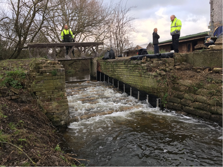 The completed works at Hithermoor Weir have enabled eels and coarse fish, such as roach, chub and bream, to once again migrate up and down the River Colne
