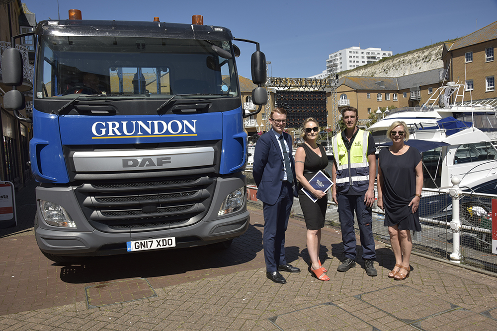 Teamwork delivering improved waste management performance: (left to right) Grundon's Andy Piasko, contract manager; with Brighton Marina's general manager, Kirsty Pollard; Aaron Tester, cleaning manager and Debbie Rathbone, operations manager