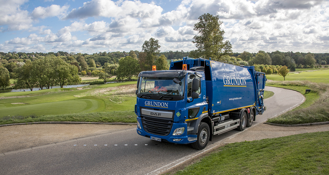 Grundon's certified CarbonNeutral® waste collection vehicles are helping to reduce The Grove's carbon footprint