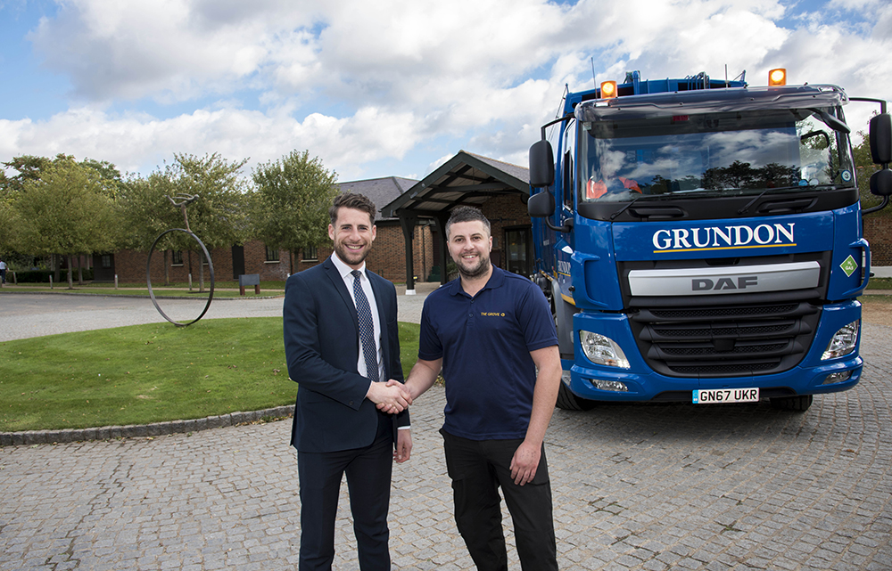 Grundon's Regional Sales Manager Jack Yarrow (left) works closely with The Grove's Back of House and Logistics Manager, Jamie Grierson, to improve waste management performance