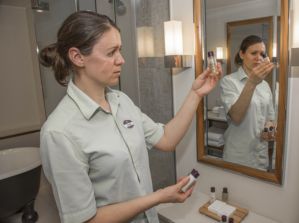 Small plastic bottles of toiletries which previously went into a general waste compactor are now collected by a charity which reprocesses and repackages the contents for onward distribution to needy families in both the UK and overseas