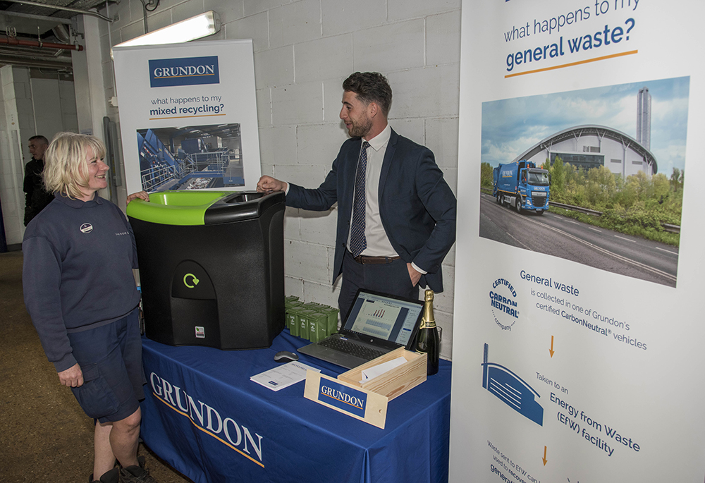 Grundon helped to drive staff engagement on the topic of waste management and recycling through an on-site Waste Awareness Day at The Grove, helping to reach as many employees as possible
