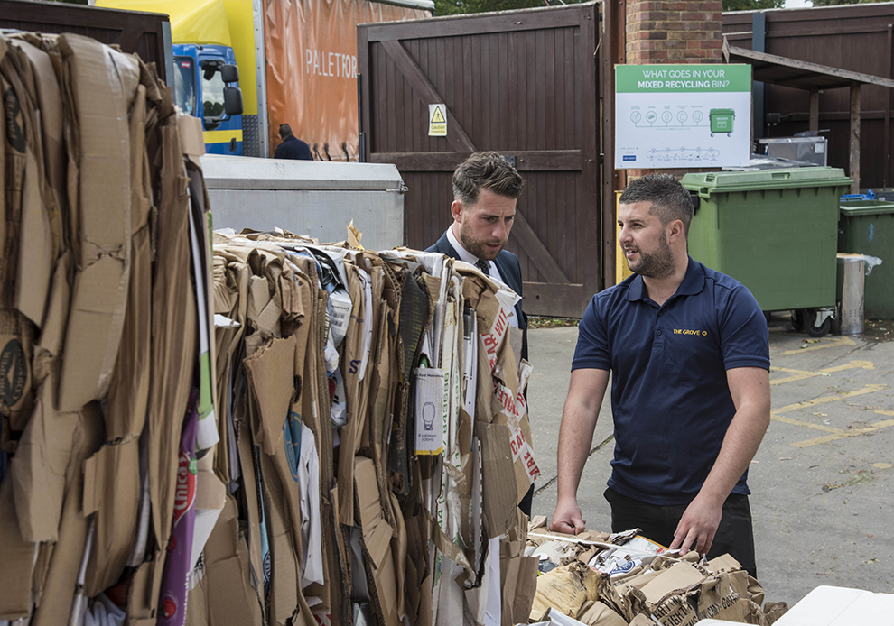 A simple review of the waste compound and service yard area has enabled The Grove to triple the rebate it earns on its cardboard recycling, helping to reduce waste management costs