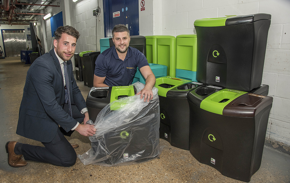 Dozens of new internal recycling bins were installed in back-of-house areas, helping to improve waste segregation and boost recycling rates