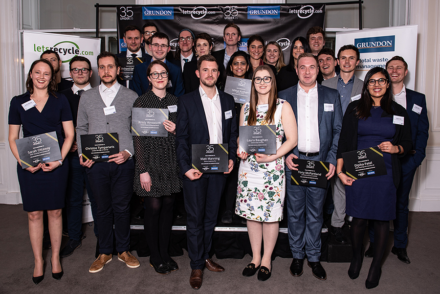 Rising stars of the waste and recycling sector were recognised as achieving 35-under-35 award status at a special awards event hosted by Letsrecycle.com