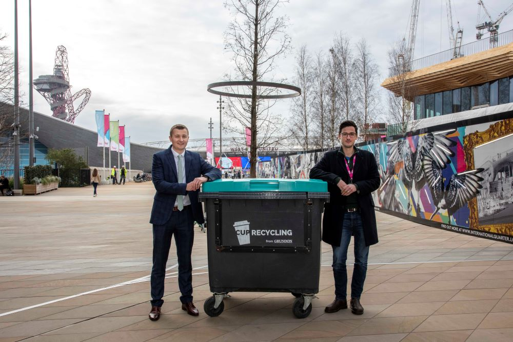 """Adam Craig (right), Senior Estate Manager for JLL, says: """"Grundon has successfully delivered a joint, open platform for IQL occupiers, residents and managing agents to discuss waste awareness and sustainability, demonstrating the real benefits of appointing one single supplier."""""""