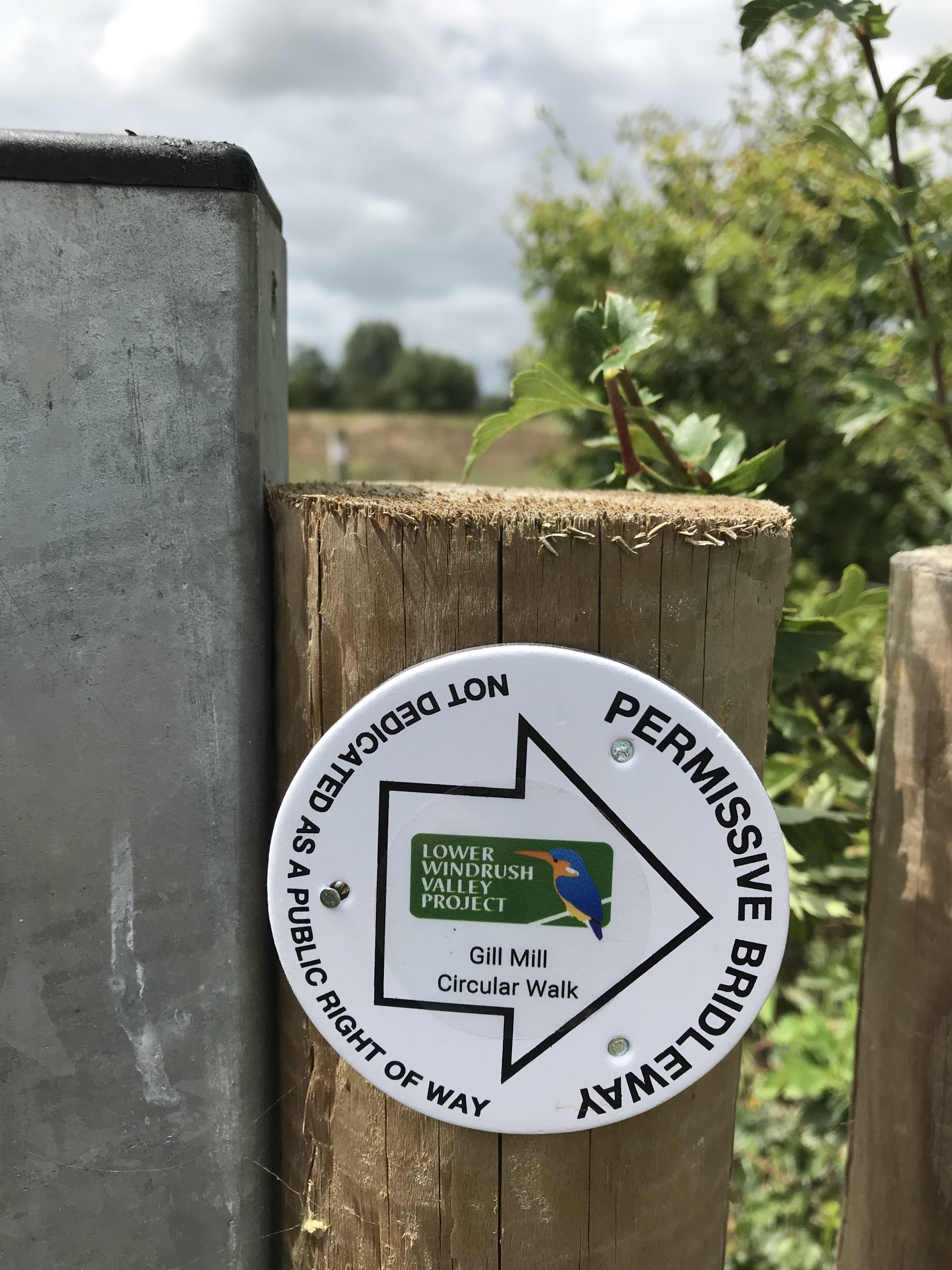 Stickers on waymarkers make it easy for walkers to follow the routes