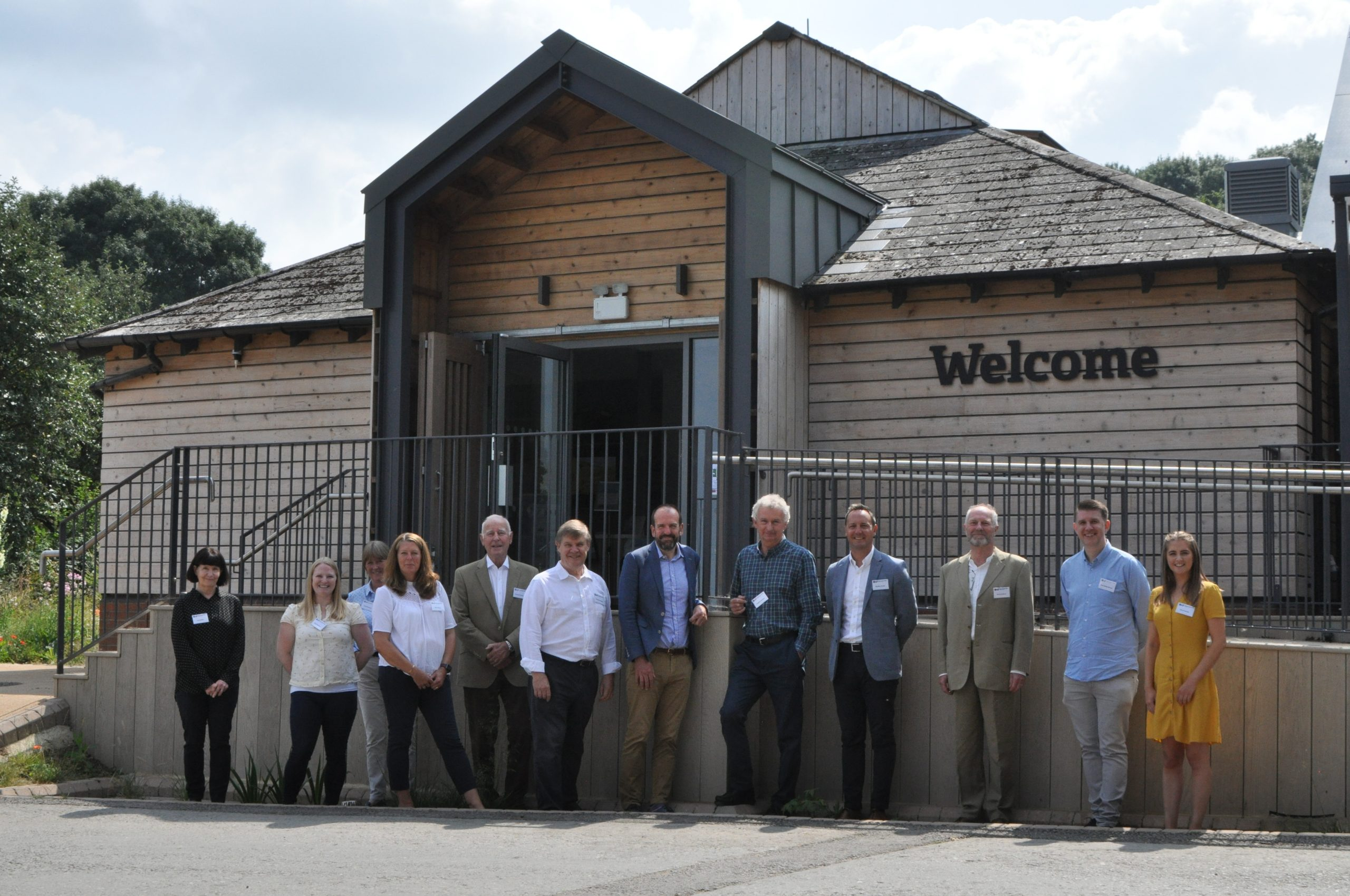 To mark the significant landmark, members of the Grundon team visited the brand new GWT headquarters at Robinswood Hill, Gloucester.