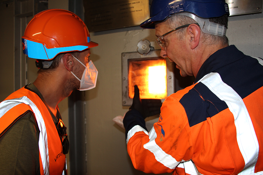 During his tour of the Lakeside Energy from Waste facility, Sebastian learned how non-recyclable waste is used to generate electricity.