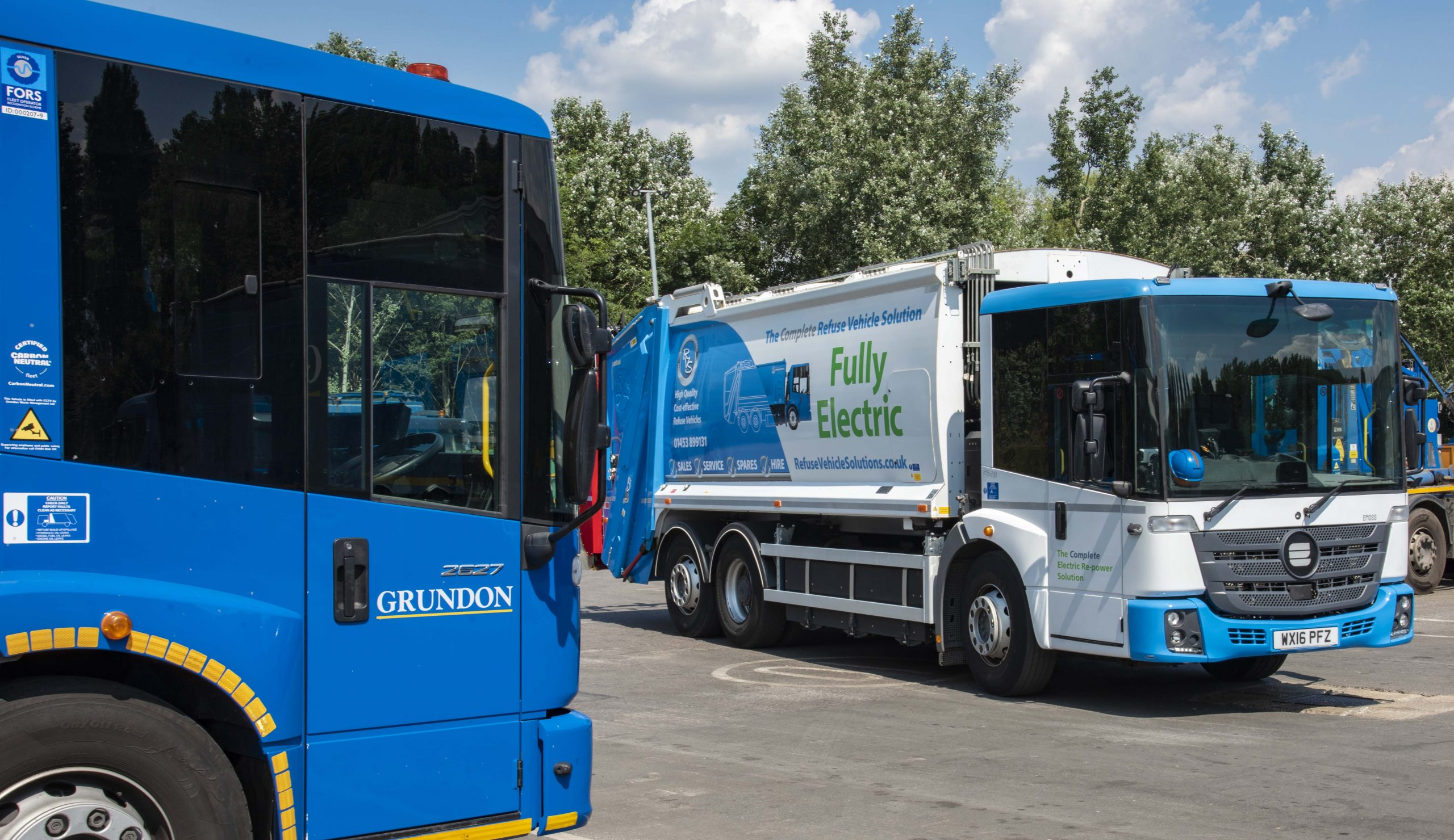 Grundon has been trialling an electric waste collection vehicle