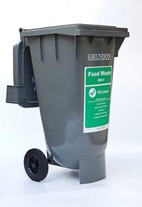 New 120 litre food waste bin