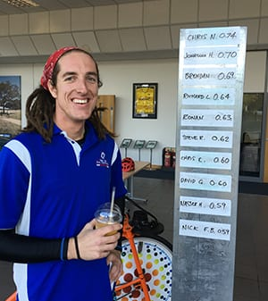 Chris Newell, winner of the smoothie challenge