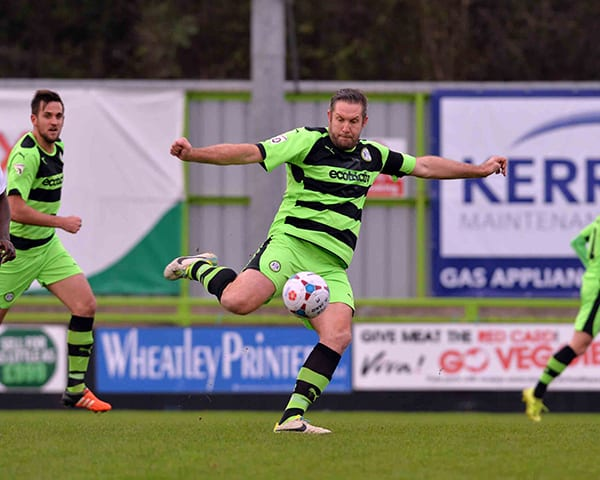 John Parkin of Forest Green Rovers in action