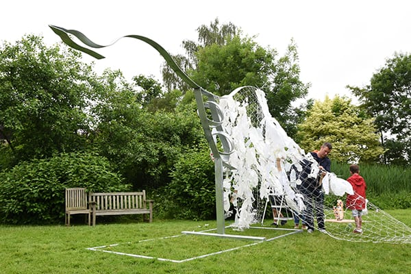 The Big Sculpt, sponsored by Grundon, taking place at The GAP Festival