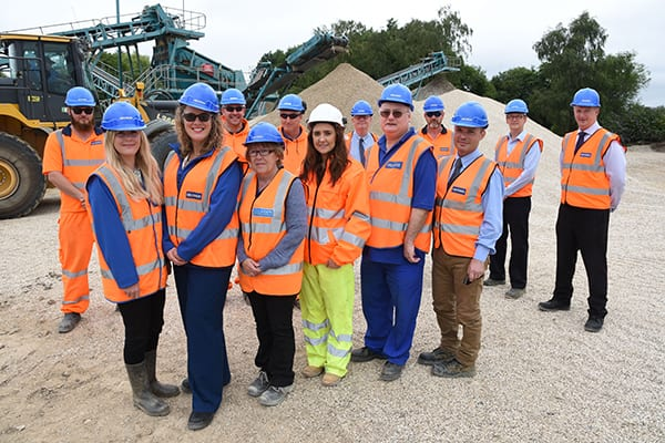 The Grundon Team at Kennetholme Quarry celebrate named as a PRIME Site by The Institute of Quarrying