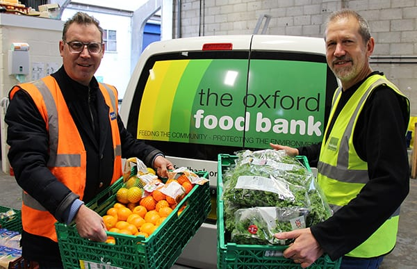Neil Grundon ,deputy chairman of Grundon Waste Management launched the Festive Food Share campaign along with David Kay, operations director at the Oxford Food Bank